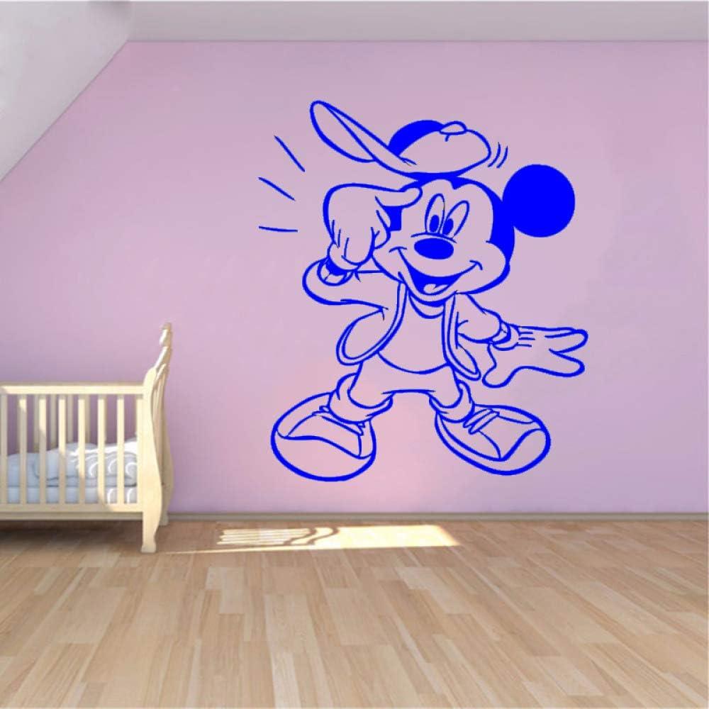 yaoxingfu Creative New DIY Cute Mouse Funny Custom Kids Name Baby Wall Stickers para Habitaciones de niños Decoración del hogar Wall Stickers # WW-3 75x89cm: Amazon.es: Hogar