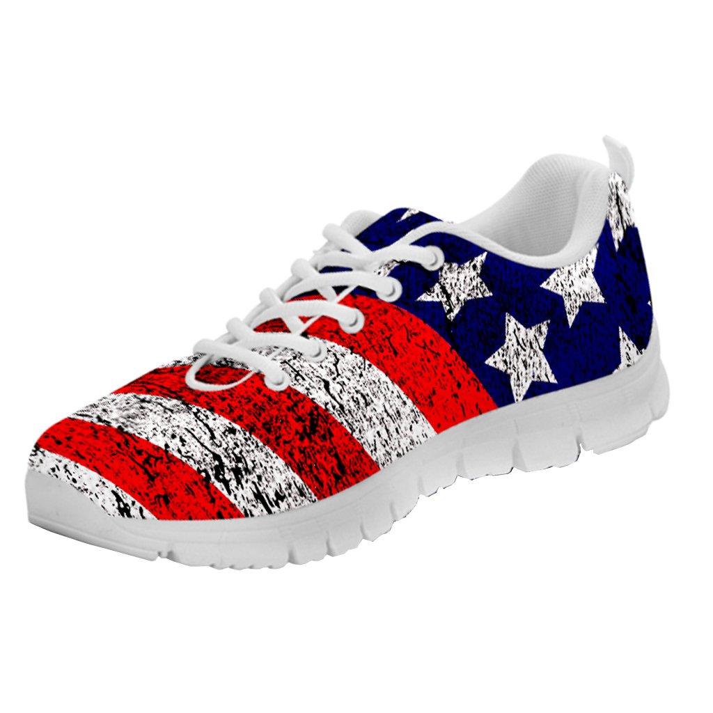 Amazon | Printed Kicks USA Flag Sneakers American Pride Chaussures