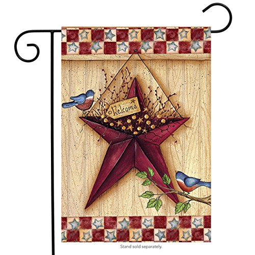 "Briarwood Lane Patriotic Barn Star Garden Flag Primitive 12.5"" x 18"""