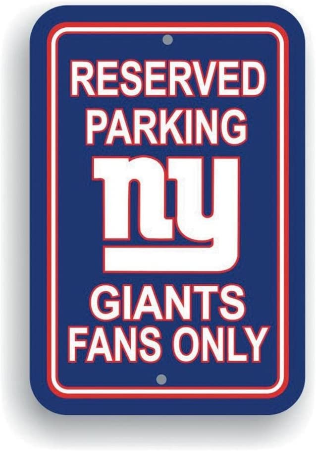 Amazon.com: Cartel plástico de estacionamiento de NFL ...