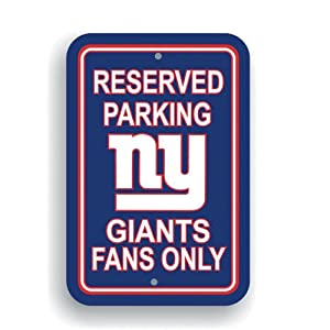 Fremont Die NFL New York Giants Plastic Parking Sign