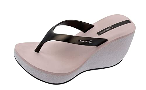 a4e9c660c668de Ipanema Womens Black Bolero Wedge Flip Flops  Amazon.co.uk  Shoes   Bags