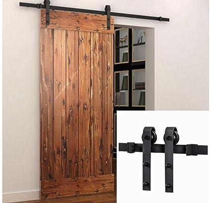 Alterdj 5ft Sliding Barn Door Hardware Sliding Door Hardware Wood