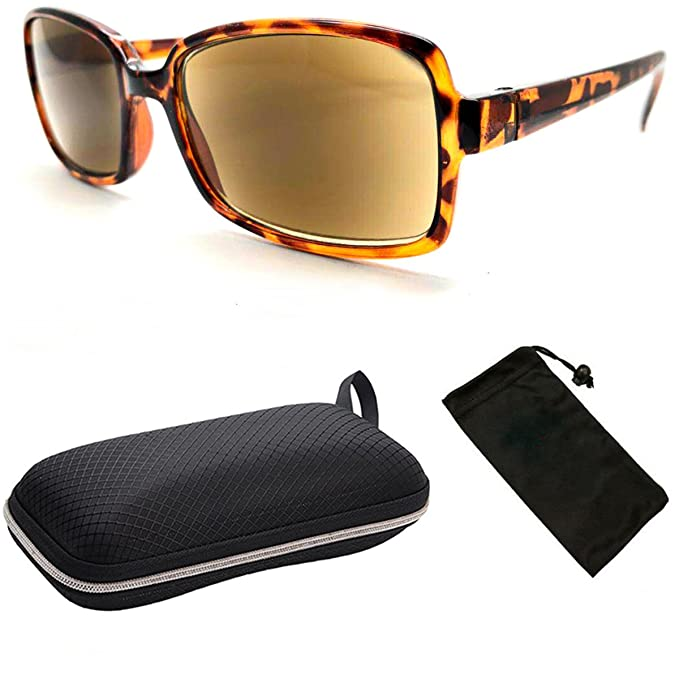 4edda2bed04 Image Unavailable. Image not available for. Color  Fashion Designer Women  Squared Rectangular Reading Glasses   Sunglasses (Tortoise