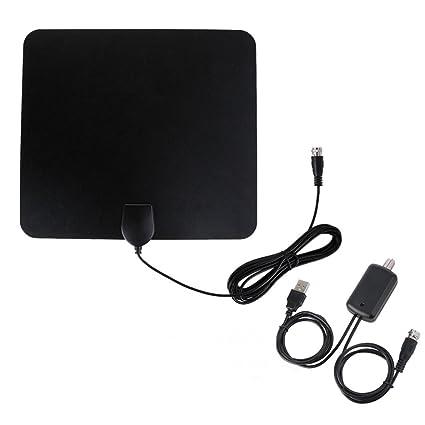 Mengonee HDTV007 de televisión digital de alta definición 50 Millas cubierta antena del receptor 1080P VHF