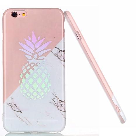Amazon.com: iPhone 6S Plus funda, brillante diseño de mármol ...