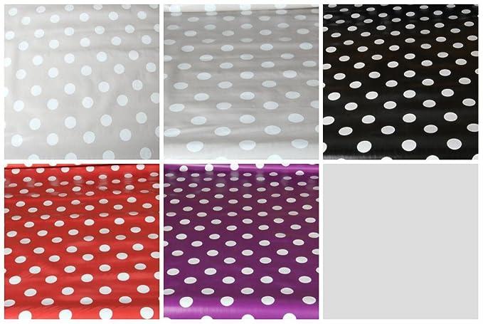 A POIS Impression facile à nettoyer Imprimé pois en PVC Nappe en vinyle salle à manger Table de Cuisine, 140x140 cm