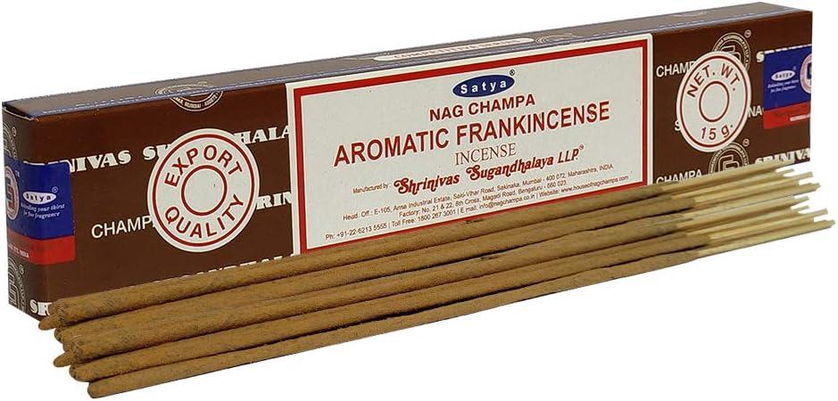 Satya Nag Champa Aromatic Frankinsence 15g Incense Sticks For Healing Meditation