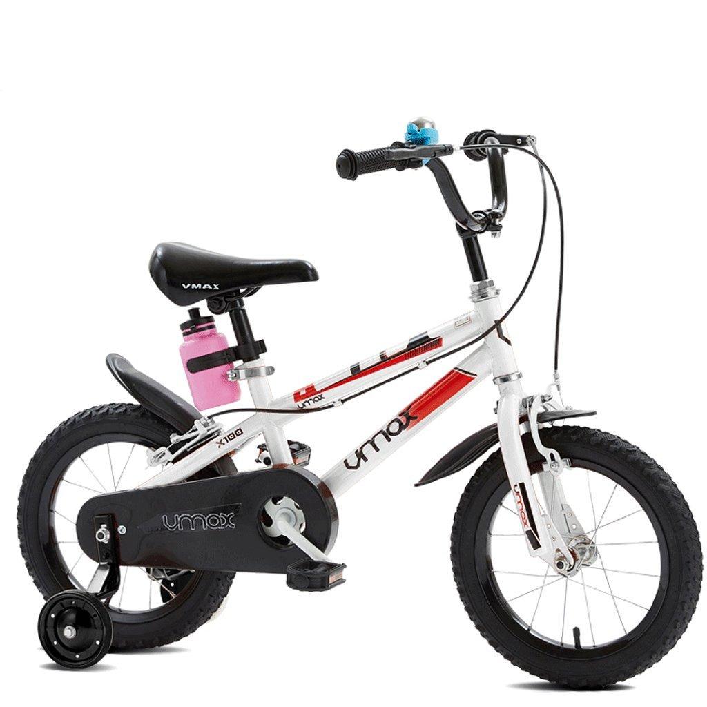 子供の自転車の男の子3歳から12歳の児童ベビーベビーカーの自転車 (色 : 白, サイズ さいず : 12インチ) B07D57225Y 12インチ|白 白 12インチ