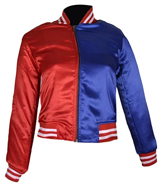 FWL Suicide Squad Harley Quinn Satin Jacket for Women (XXS-5XL) Red & Blue: Amazon.es: Ropa y accesorios