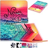 Galaxy Tab S2 8.0 Case-UUcovers Fashion Design Pattern Stand Cover Wallet Case for Samsung Galaxy Tab S2 Tablet (8.0 inch SM-T710/SM-T715) (Never Stop)