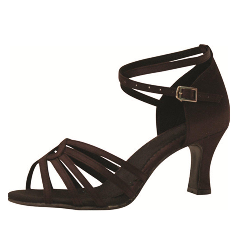 - YFF Cadeaux femmes Dance danse danse latine Dance Tango chaussures 7CM,marron,43