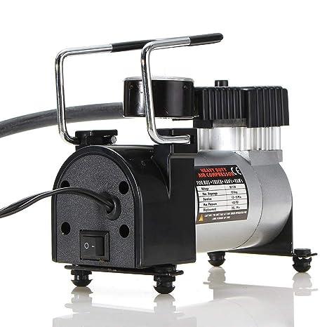 GEGEQUNAERYA - Compresor de Aire portátil, 12 V, 100 PSI, inflador de neumáticos