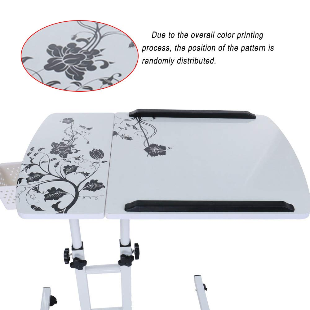 Lucoo Laptop Desk Folding Computer Desk Household Can Be Lifted and Folded 64cm40cm (White) by Lucoo (Image #8)