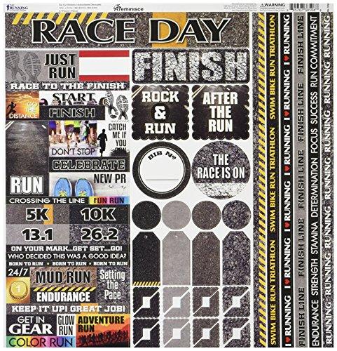 Reminisce TRUC-100 Running Cardstock Sticker, 12