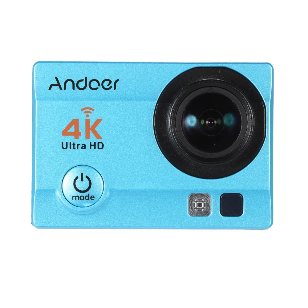Andoer AN2 4K WIFI Action Kamera, Dual 2 LCD Touchscreen 20MP 1080P HD 170 Grad Weitwinkel 5X Zoom Anti-Shake Wasserdichte 30m Sport Kamera