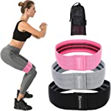 Resistance Bands,Loop Exercise Bands Hip Resistance Bands Booty Bands for Legs and Butt, Resistance Bands Soft & Non Slip, Wide Loop Hip Band, 3 Sets with a Gift Bag