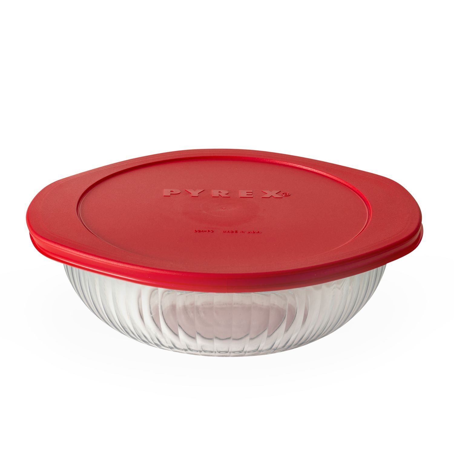 Pyrex 2-qt Sculpted Casserole w/ Red Lid World Kitchen