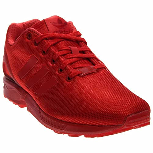Adidas Men's ZX Flux Red/Red/Red Nylon Running Shoes 7.5 M ...