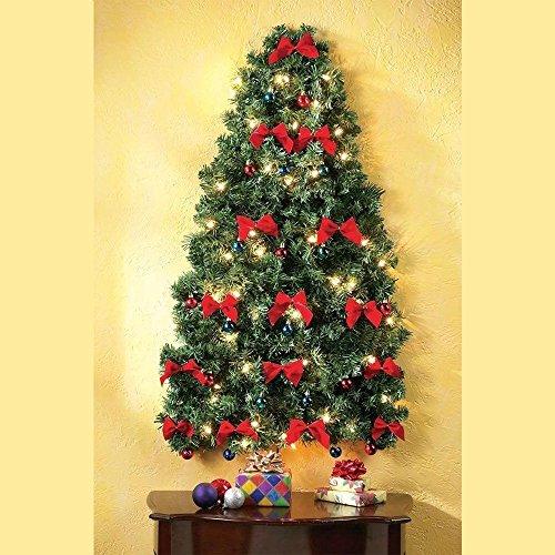 Decorated Hanging Christmas Tree Xmas Mini Artificial Prelit Wall ...