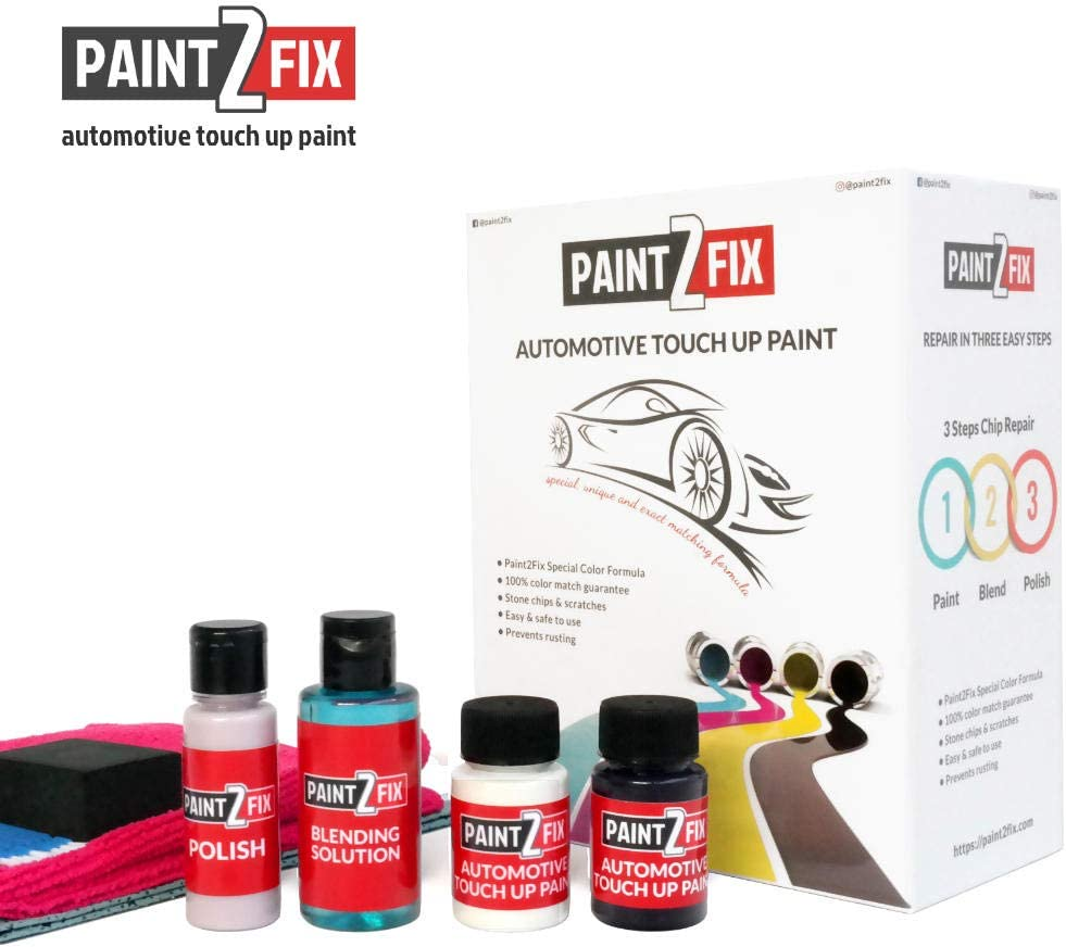 PAINT2FIX Alfa Romeo 4C Madreperla White Pearl PWZ Touch Up Paint - Scratch & Chip Repair Kit - Silver Pack