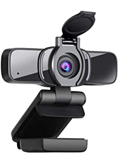 Computer Camera with Webcam Cover,LarmTek Webcam with Microphone Support for PC Laptop Mac,Widescreen Video Calling and Recording Great for Zoom YouTube Skype FaceTime Google Meet Teams