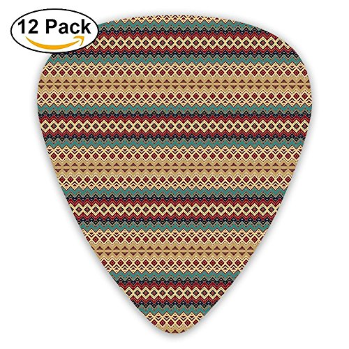 Newfood Ss Seamless Pattern With Ethnic Aztec Motifs Guitar Picks 12/Pack Set