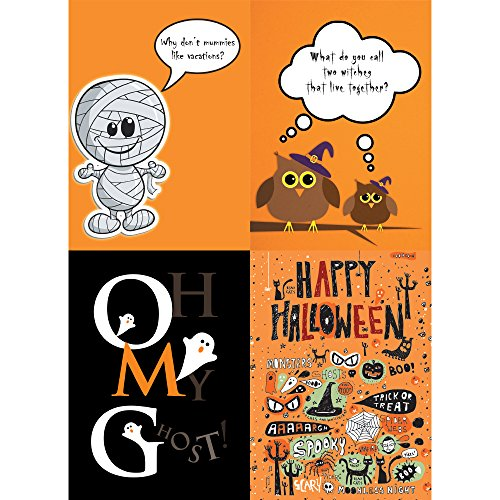 Tree-Free Greetings Kids Halloween Card Assortment, 5 x 7 Inches, 8 Cards and Envelopes per Set (GA31680)