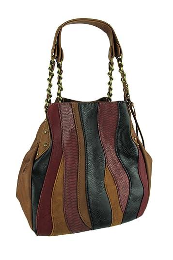 b04ea041ef CARLOS by Carlos Santana Women's Melodia Chain Shopper Cognac Multi One  Size: Handbags: Amazon.com
