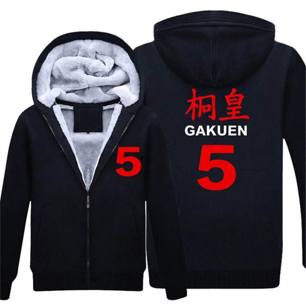 Gumstyle Kuroko No Basuke Anime Unisex Full-Zip Hoodie Coat Winter Thicken Fleece Warm