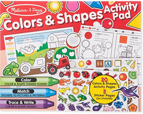 Melissa & Doug Colors & Shapes Activity Pad (Shapes Activities Colors And)