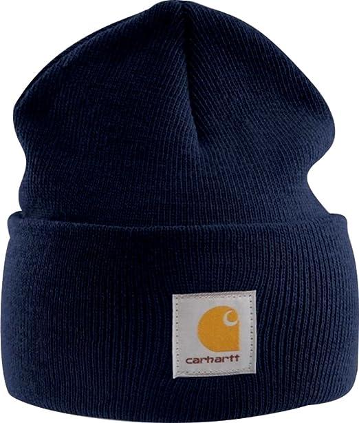 Carhartt, berretto lavorato a maglia, colore blu scuro, modello A18  Amazon.it Abbigliamento