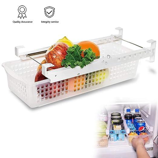Cajón organizador de refrigerador con estante ajustable para ...