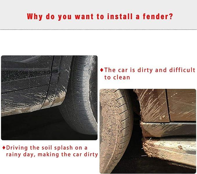 Muchkey Car Mud Guard for Tiguan 2008 2009 2010 2011 2012 2013 2014 2015 2016 2017 2018 Custom Fit No Drill Mud Flaps Mud Guards Flare Splash Guards Kits Molded 4pcs//Set