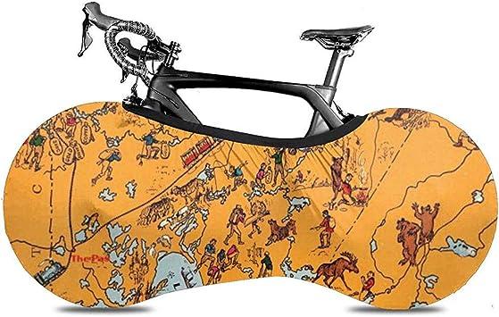 Funda para Bicicleta,Mapa Animado De Fundas De Ruedas De ...