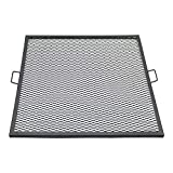 Sunnydaze X-Marks 36 Inch Square Fire Pit Cooking Grill