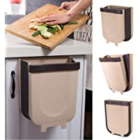 CLUESS™ Folding Trash Bucket Wall Mounted Folding Waste Bin, Hanging Garbage Can for Kitchen Cabinet Door, Foldable…