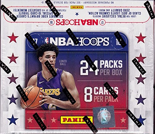 2017 2018 HOOPS NBA Basketball Retail Series HUGE Unopened Box of Packs Containing 192 cards including One Autographed Card and Retail EXCLUSIVE Inserts -
