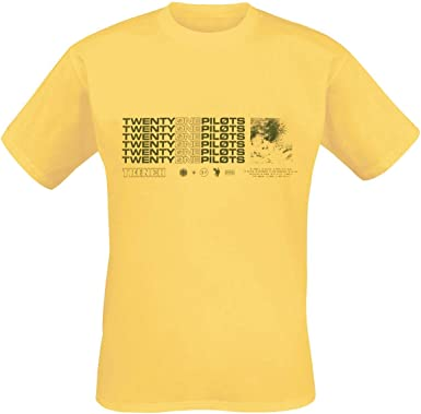 Twenty One Pilots Stacker Camiseta Amarillo XL: Amazon.es: Ropa y accesorios