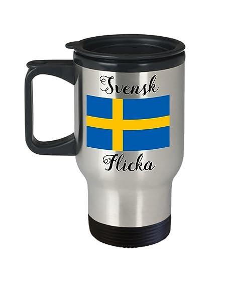Amazon.com: Suecia taza de viaje – bandera sueca taza de ...