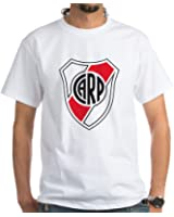 CafePress Escudo River Plate White T-Shirt - 100% Cotton T-Shirt,