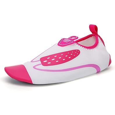 Unisex - Erwachsene Aquaschuhe Sportlich Trocknend Entspannt Anti-Rutsch Niedrig Mesh Atmungsaktive Schnell Gummi Sohle Surfschuhe Pink 42 EU Ula87