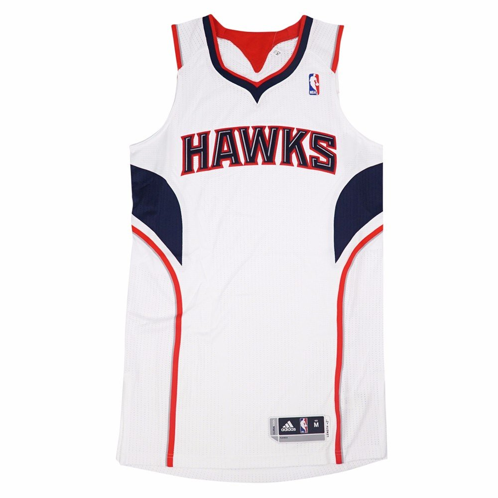 9b74d59e1dfc Amazon.com   Atlanta Hawks NBA Adidas White Official Authentic On-Court  Revolution 30 Home Jersey For Men   Sports   Outdoors