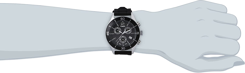 Timex Originals Black Dial Silicone Strap Men s Watch T2N826