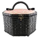 singer 07234 Octagon Vintage Sewing Basket with Notions