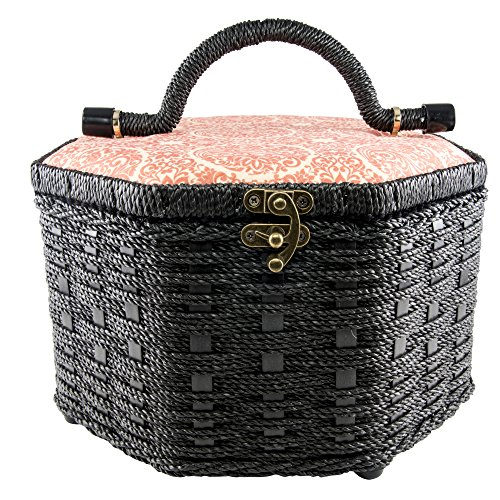 singer 07234 Octagon Vintage Sewing Basket with Notions by singer