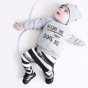 Beb/és ni/ña ni/ño reci/én Nacidos Camisetas de Manga Larga Sombrero Oto/ño Invierno Ropa 3 Mes Pantalones Conjunto Ropa Beb/é 2 A/ños
