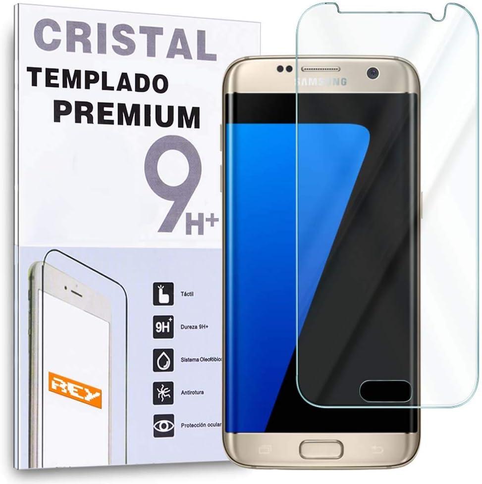 REY Protector de Pantalla para Samsung Galaxy S7 Edge Cristal Vidrio Templado Premium: Amazon.es: Electrónica