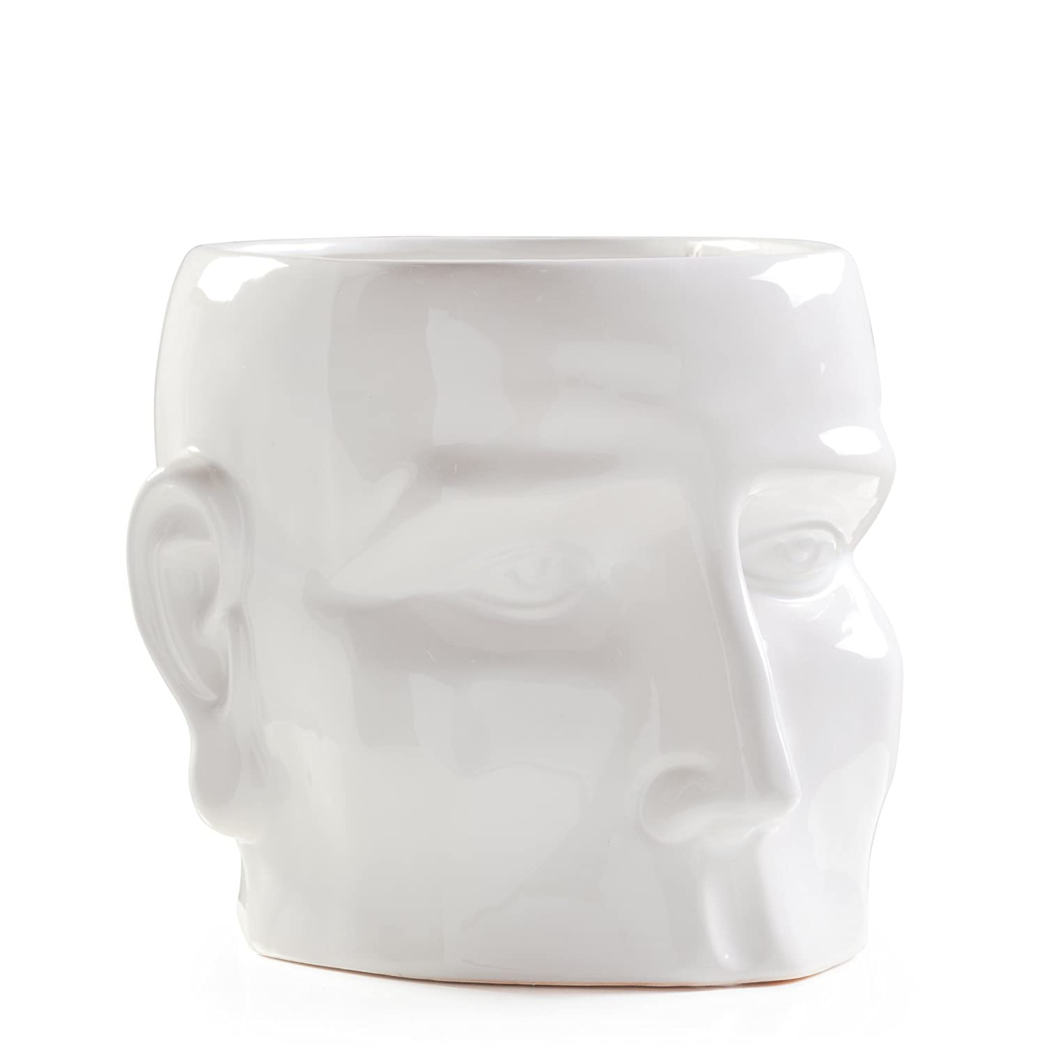 White Torre /& Tagus Face Vase Small