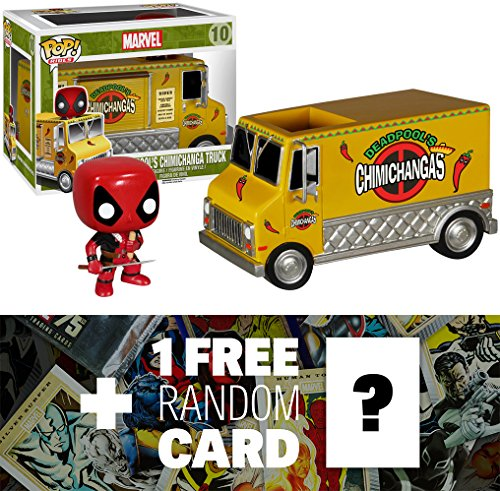 Deadpool's Chimichanga Truck: Funko POP! x Marvel Universe Vinyl Bobble-Head Figure + 1 FREE Official Marvel Trading Card Bundle [53918]